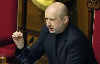 Ukraine's interim president Oleksandr Turchynov