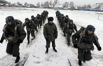Russia's airborne troops during training (archive)