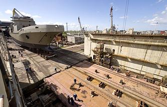 Landing ship Ivan Gren at the Yantar shipyard