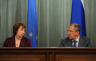 Catherine Ashton and Sergei Lavrov (archive)