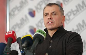 Crimea's parliament Speaker Volodymyr Konstantinov