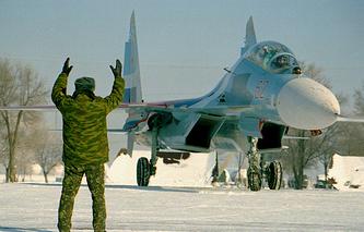 Su-27 fighter jet (archvie)