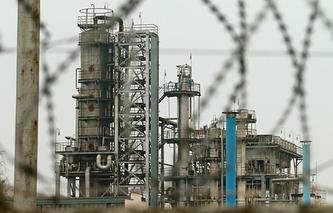 An oil refinery in Ukraine's Odessa