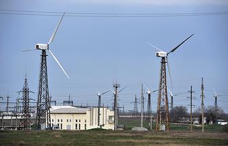 Mirnovskaya wind power plant in Crimea