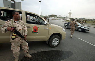 Libyan army soldier in Tripoli