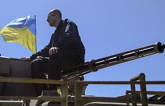 Ukraine's parliament-appointed Prime Minister Arseniy Yatsenyuk
