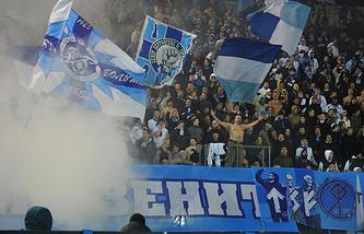 Zenit fans at the stadium (archive)