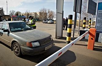 Border crossing between Russia and Ukraine