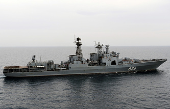 Russian Northern Fleet's big submarine chaser Vice-Admiral Kulakov