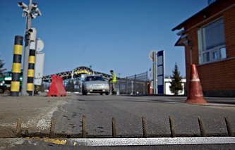 Border crossing between Russia and Ukraine (archive)