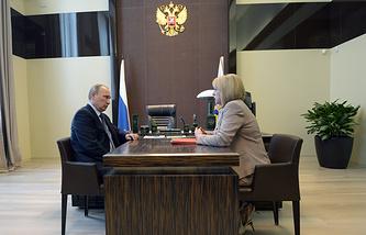 Vladimir Putin and Ella Pamfilova