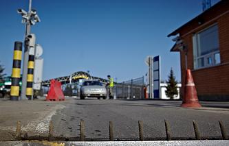 Check point at the Russia-Ukraine border