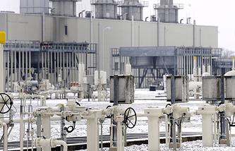 Gas distribution node in Baumgarten (archive)