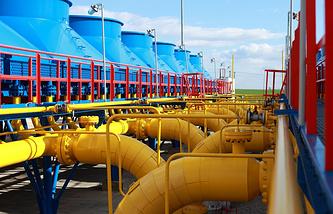 Gas compressor station in Slovakia