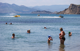 Tourists in Crimea
