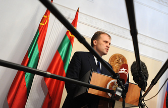 President of Moldova's breakaway republic of Transdniestria Yevgeny Shevchuk