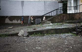 Luhansk after shelling