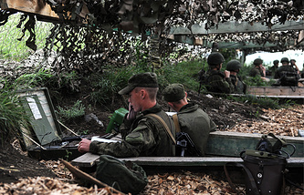 Military drills at the Chebarkul testing range, Jun. 2014