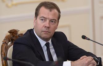 Russian Prime Minister Dmutry Medvedev