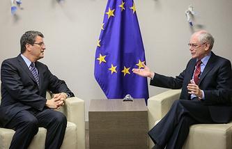 Roberto Azevedo and Herman Van Rompuy