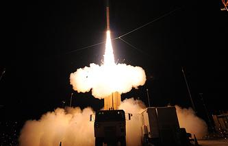 US THAAD anti-ballistic missile defence systems