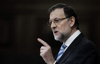 Spanish Prime Minister Mariano Rajoy Brey
