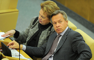 Alexei Pushkov (right)