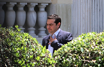 Leader of the Greek Coalition of Left Radical Forces Alexis Tsipras