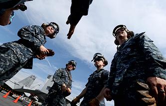 USA navy crew members in South Korea