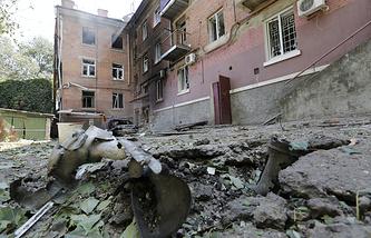 Destructions in Luhansk