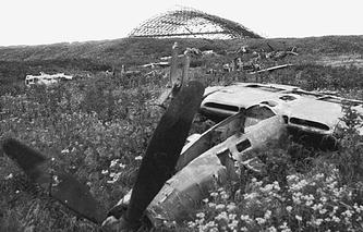 Traces of war on Shumshu Island