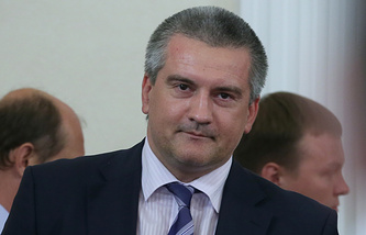 Crimea's acting head Sergei Aksyonov