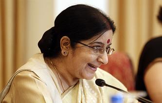 India's Minister for External Affairs Sushma Swaraj
