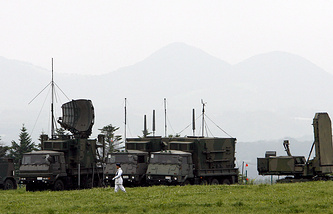 A military radar unit seen in Japan (archive)