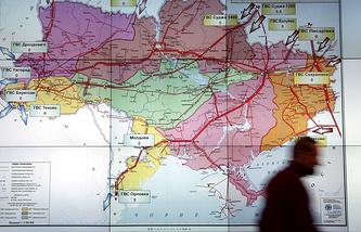 Map of Ukraine's gas transportation system