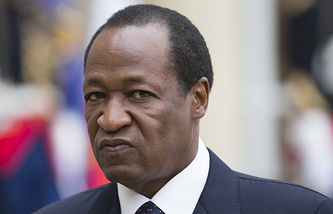 President of Burkina Faso Blaise Compaore