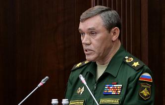 Russia's chief of General Staff Army General Valery Gerasimov