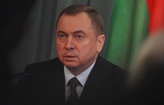 Foreign Minister of Belarus Vladimir Makei