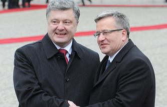 Petro Poroshenko and Bronislaw Komorowski