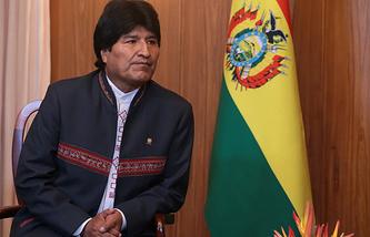 President of Bolivia Evo Morales