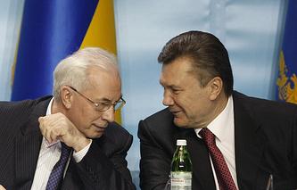 Viktor Yanukovych and Mykola Azarov