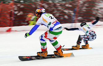 Russian snowboarder Andrey Sobolev