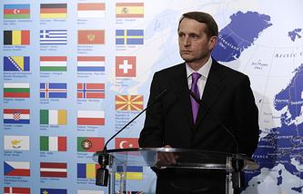 Speaker of the State Duma lower house of Russia's parliament Sergey Naryshkin