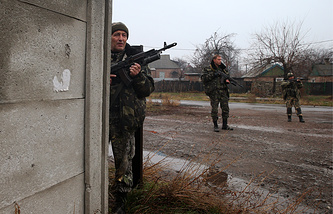 Militia fighters in eastern Ukraine