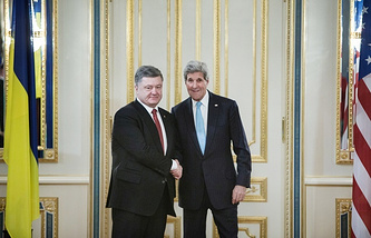 Petro Poroshenko and John Kerry