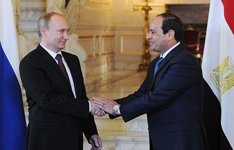 Russian President Vladimir Putin and his Egyptian counterpart Abdel Fattah el-Sisi