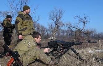DPR militia near Debaltsevo
