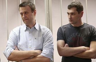Alexey Navalny and Oleg Navalny