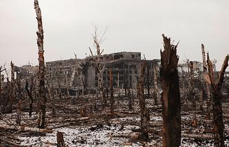Area near Donetsk's airport