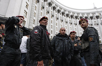 National Guard servicemen in Kiev (archive)